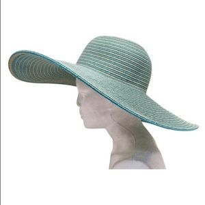 Turquoise Large Brim Floppy Hat